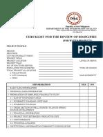SFS Checklist Water