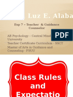 Class Rules & Expectation