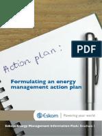 Advisory Services Energy Management Action Plan Brochure
