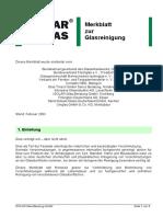 Merkblatt Arnold Glas Glasreinigung