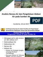 Neraca Air Dan Alokasi Air 2017 Solo