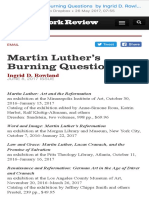 Martin Luther's Burning Questions by Ingrid D. Rowland the New York Review of Books