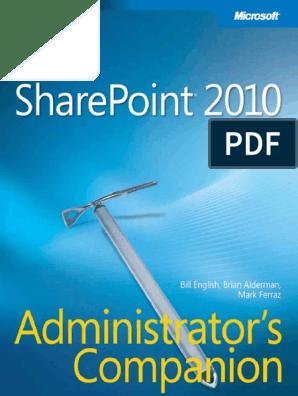 Microsoft Press Microsoft SharePoint 2010 Administrators