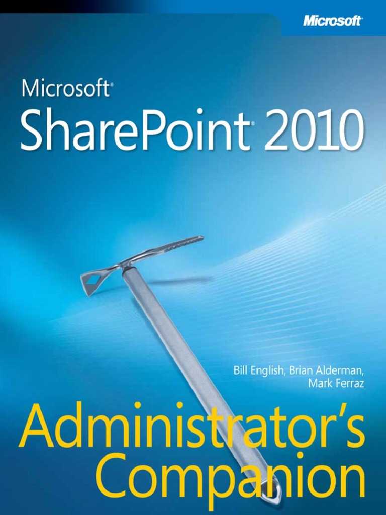 Microsoft Press Microsoft SharePoint 2010 Administrators Companion