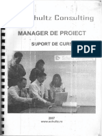 Manager de Proiect - Suport de Curs Schultz Consulting
