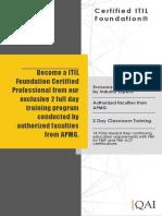 ITIL Foundation Course Catalogue