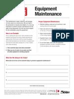 CPWR Equipment Maintenance