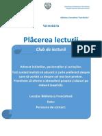 Consiliul Școlar Al Elevilor Biblioteca Francofonă
