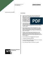 Examen NT2 Programma I luisteren 2003-2004