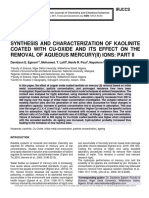 SYNTHESIS AND CHARACTERIZATION OF KAOLINITE COATED WITH CU-OXIDE AND ITS EFFECT ON THE REMOVAL OF AQUEOUS MERCURY(II) IONS