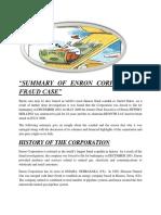 Enron Fraud Case Summary