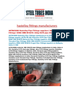 Hastelloy Fittings Manufacturers