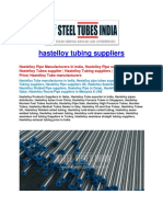 Hastelloy Tubing Suppliers