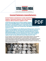 Inconel Fasteners Manufacturers