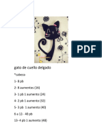 Gato Negro de Cuello Delgado