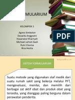 Sistem Formularium Kelompok 1