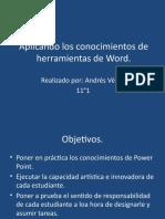 Aplicando Los Conocimientos de Herramientas de Word