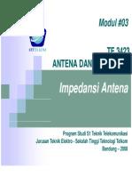 TE3423 3 Impedansi Antena
