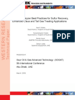 Analyzer Best Practices SRU TGTU