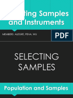 Selecting Samples and Instruments