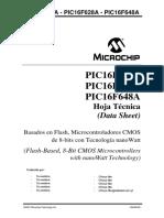 Datasheet en Español PIC16F628A
