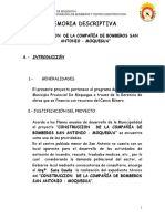 Memoria Descriptiva Bomberos s.A
