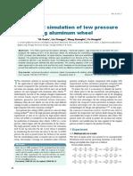 Numerical simulation of low pressure die-casting aluminum wheel