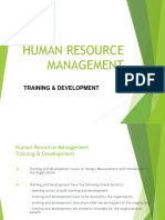 HR Training and Development Charateristics