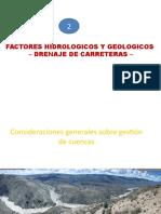 Factores Hidrologicos y Geologicos en el diseño de alcantarillas viales