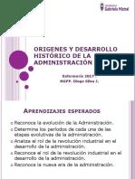 Clase 2 Origenes y Desarrollo Histórico de La Administración Clase