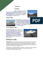 Volcanes de Sur América