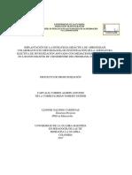 Proyecto de Profundizacion Aprendizaje Colaborativo Una Estrategia Pedagogica en Metodologia de La Investigacion Soportada Con Tic.