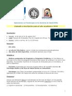 DIPLOMATURA PSS, Información y Llamado 2018