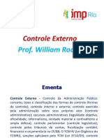 Controle Externo. Prof. William Rocha