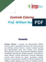 Controle Externo. Prof. William Rocha