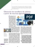 OBTENCIÓN DE NANOFIBRAS DE CELULOSA A PARTIR DE RECURSOS LIGNOCELULÓSICOS