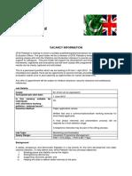 Job Description Monitoring Evaluation Officer Pakkistan