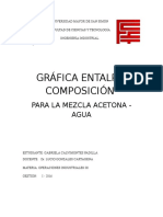 graafica entalpia composicion para la mezcla de acetona-agua
