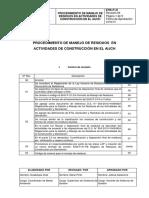 Ehs-p-31 Procedimiento de Manejo de Residuos en Actividades de Construcción en El Aijch