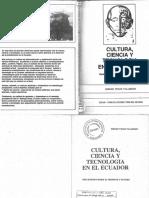 Velez (1988)- Cultura, Ciencia y Tecnología en El Ecuador. Reflexiones Sobre El Presente y Futuro