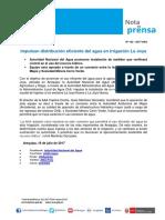 Nota de Prensa Nº 142-2017 - AAA CAPLINA OCOÑA / ALA CHILI