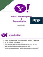 Yahoo! Cash Mge Treasury Updates