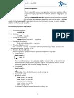 Lecţia 2 – Structura Liniară, Alternativă Şi Repetitivă