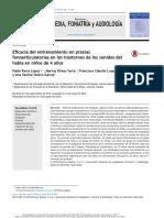 Eficacia Del Entrenamiento en Praxias Fonoarticulatorias en Los Trastornos de Los Sonidos Del Habla en Niños de 4 Años