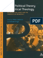 (Continuum Resources in Religion and Political Culture) Aakash Singh, Péter Losonczi-From Political Theory to Political Theology_ Religious Challenges and the Prospects of Democracy-Bloomsbury Academi