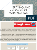 Advertising and Promotion Marrybrown
