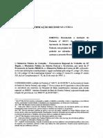 Recomendação MPDFT MPC MPT sobre o Instituto Hospital de Base