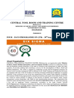 CTTC Six Sigma Green Belt Brochure Bbsr