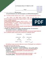 Inorganic Chemistry Exam 20110331ans