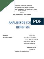 Analisis de Costos Directos